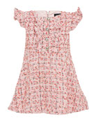 Bardot Junior Girl's Lizzie Boucle Flutter Sleeve Dress,