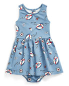 Ralph Lauren Childrenswear Girl's Nautical Print Sleeveless Dress