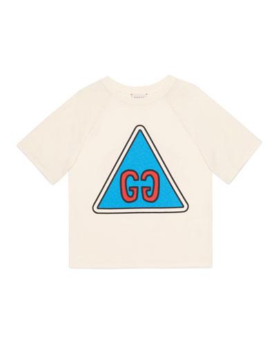 Boy's GG Short-Sleeve Jersey Graphic T-Shirt, Size 4-12