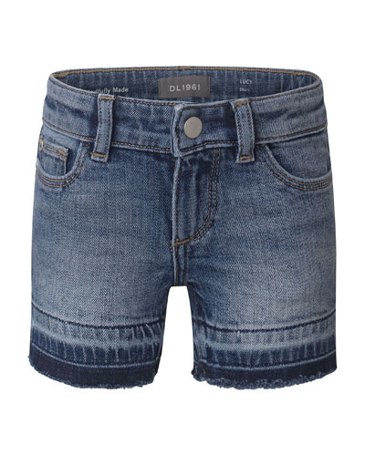 Girl's Lucy Cutoff Denim Shorts, Size 7-16