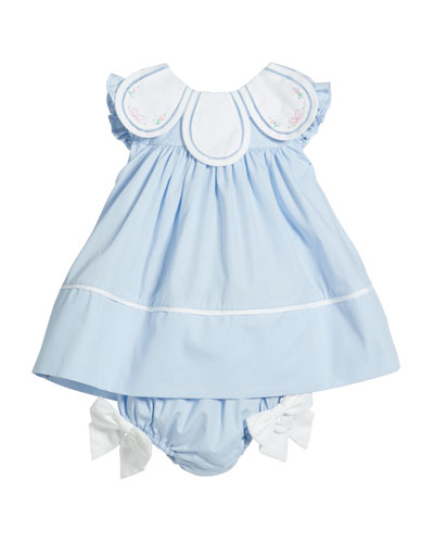 24 Months Infant Girls Mom /& Me Smocked Aqua Dress W//Bloomers Size 6 Months