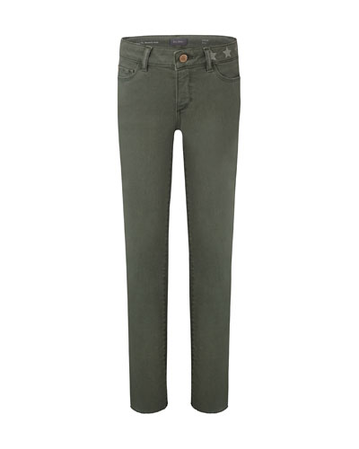 Girl's Chloe Skinny Raw Hem Side Stripe Skinny Denim Jeans, Size 7-16