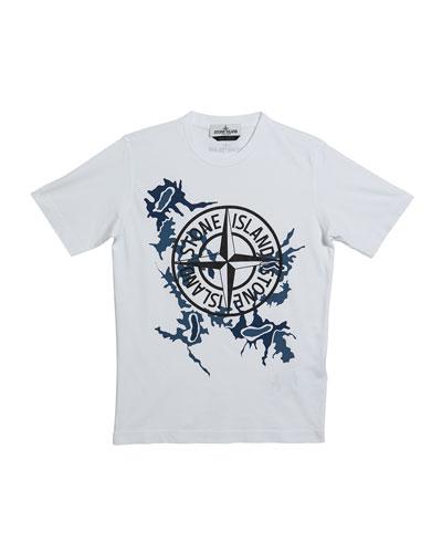Boy's Compass Logo Short-Sleeve Tee, Size 14