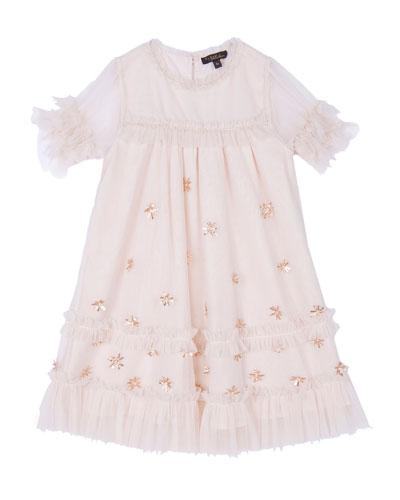 Laylani Embellished Party Dress, Size 4-6