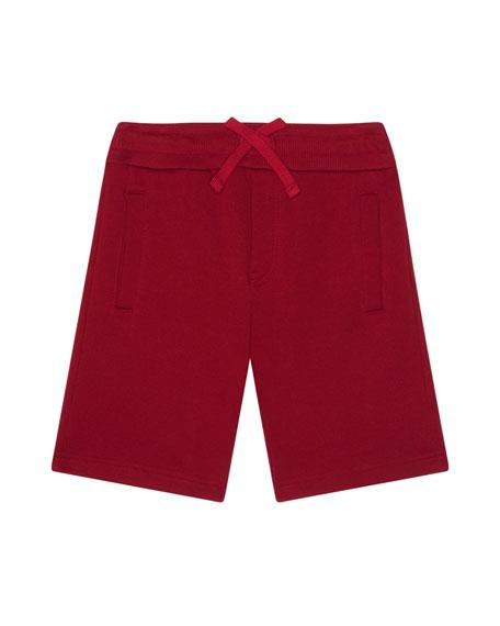 Dolce & Gabbana Boy's Jersey Shorts w/ Logo Patch, Size 8-12