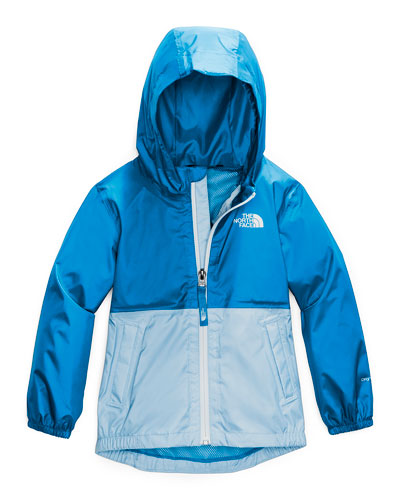Boy's Zipline Two-Tone Rain Jacket, Size 2-4T