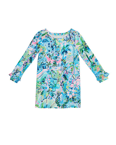 Mini Sophie UPF 50+ Ruffle Dress, Size XS-XL