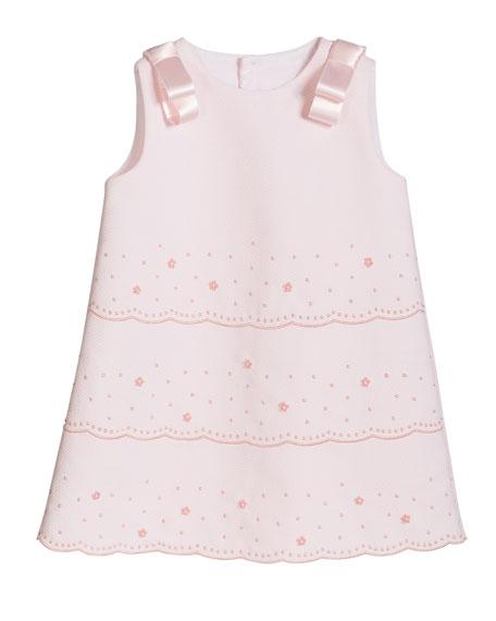 Luli & Me Girl's Pique Sleeveless Dress, Size 2-4T