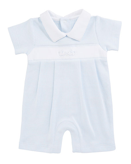 Kissy Kissy Premier Cottontails Collared Shortall, Size 3-18 Months