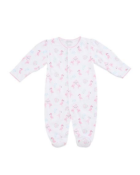 Kissy Kissy Flowering Flamingos Printed Footie Playsuit, Size Newborn-9 Months