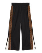 Fendi Boy's Track Pants with Logo Side-Trim, Size