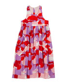 Stella McCartney Kids Girl's Brush Stroke Print Sleeveless
