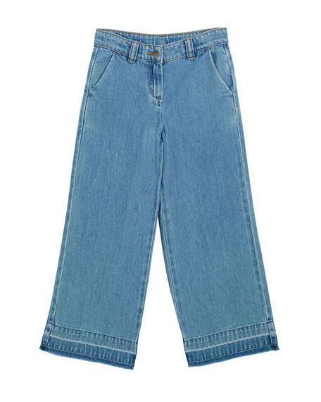 Stella McCartney Kids Girl's Wide Leg Denim Jeans, Size 4-14