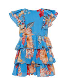 Bardot Junior Girl's Beverly Floral Tiered Dress, Size