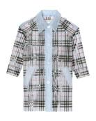 Burberry Girl's Libby Semitransparent Rain Coat, Size 3-14