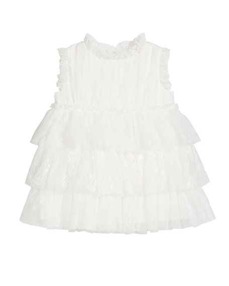 Charabia Girl's Tiered Sleeveless Dress, Size 12M-2