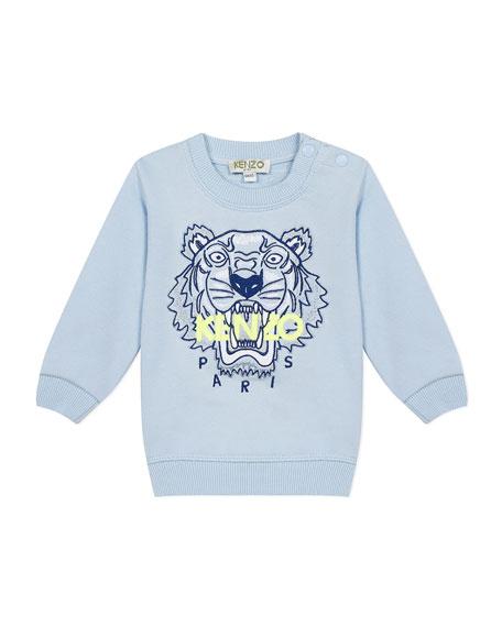Kenzo Boy's Embroidered Tiger Logo Sweatshirt, Size 6-18 Months