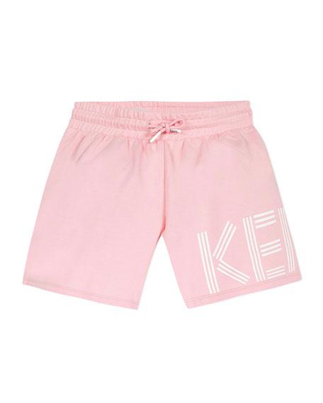 Kenzo Girl's Logo Fleece Shorts, Size 8-12