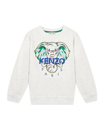 Boy's Embroidered Elephant Logo Sweatshirt, Size 2-6