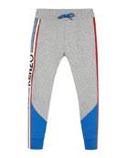 Kenzo Boy's Logo Taping Fleece Jogger Pants, Size