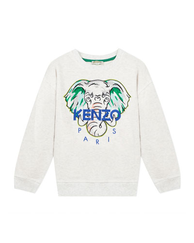 Boy's Embroidered Elephant Logo Sweatshirt, Size 8-12