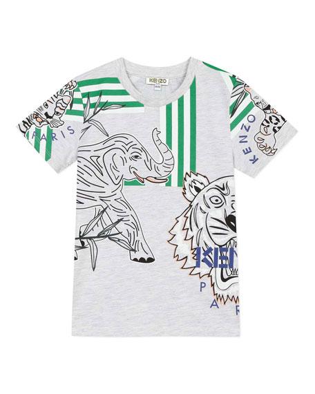 Kenzo Boy's Multi Icon Graphic T-Shirt, Size 8-12