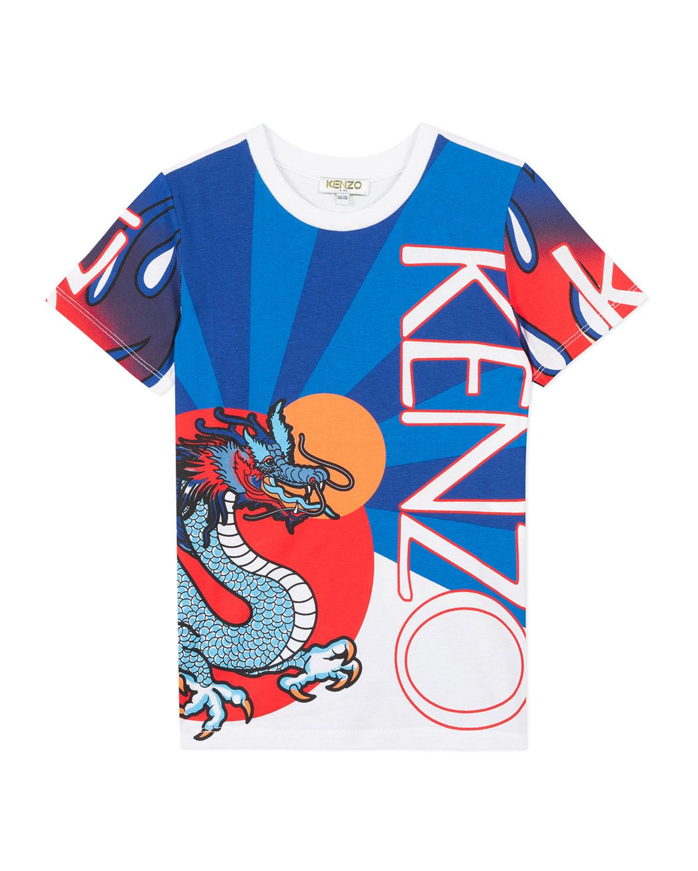 Kenzo Cottons BOY'S DRAGON PRINT T-SHIRT