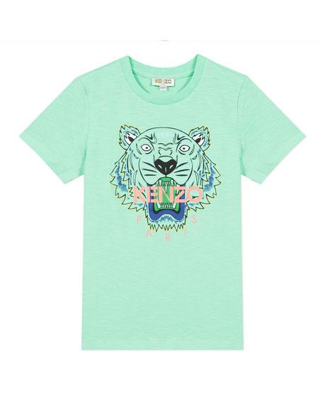 Kenzo Boy's Tiger Logo Printed T-Shirt, Size 8-12