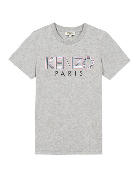 Kenzo Boy's Chest Logo Print T-Shirt, Size 2-6