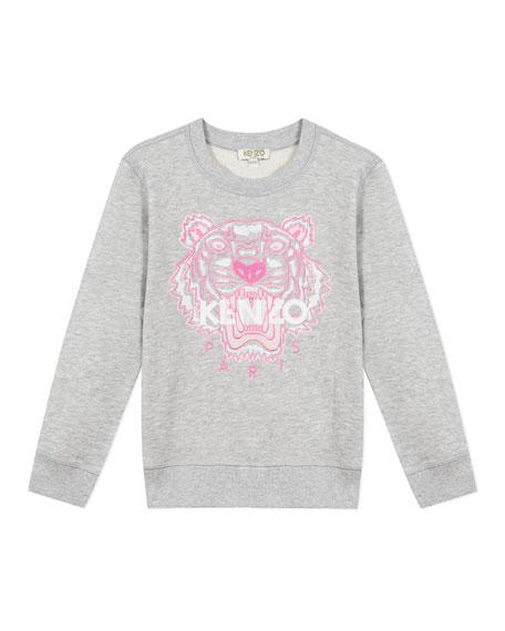 Kenzo Girl's Embroidered Tiger Logo Sweatshirt, Size 8-12