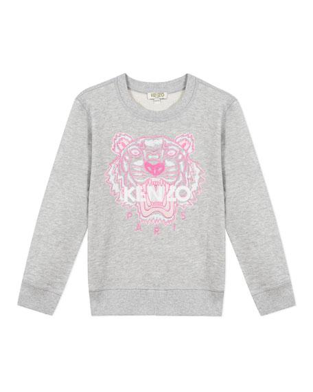 Kenzo Girl's Embroidered Tiger Logo Sweatshirt, Size 2-6