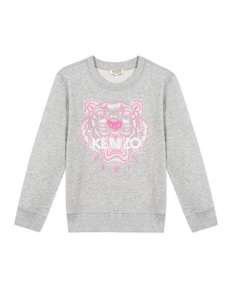 Kenzo Girl's Embroidered Tiger Logo Sweatshirt, Size 14
