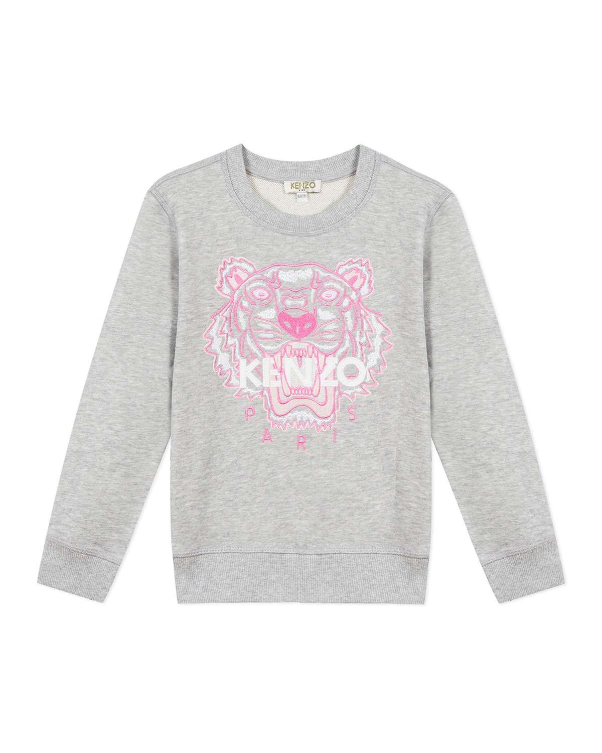 Kenzo Tops GIRL'S EMBROIDERED TIGER LOGO SWEATSHIRT