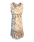 Helena Girl's Big Sister Printed Georgette Dress, Size