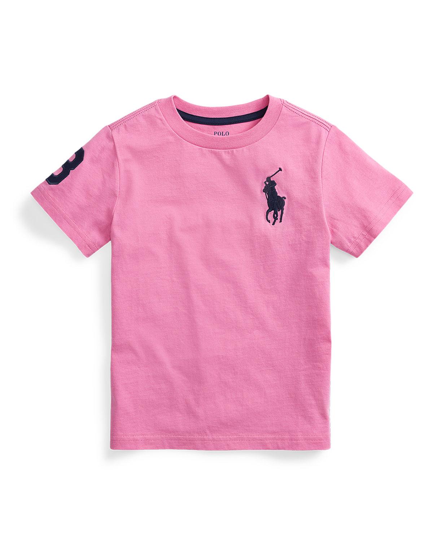 Ralph Lauren Childrenswear Tops BOY'S BIG PONY JERSEY T-SHIRT