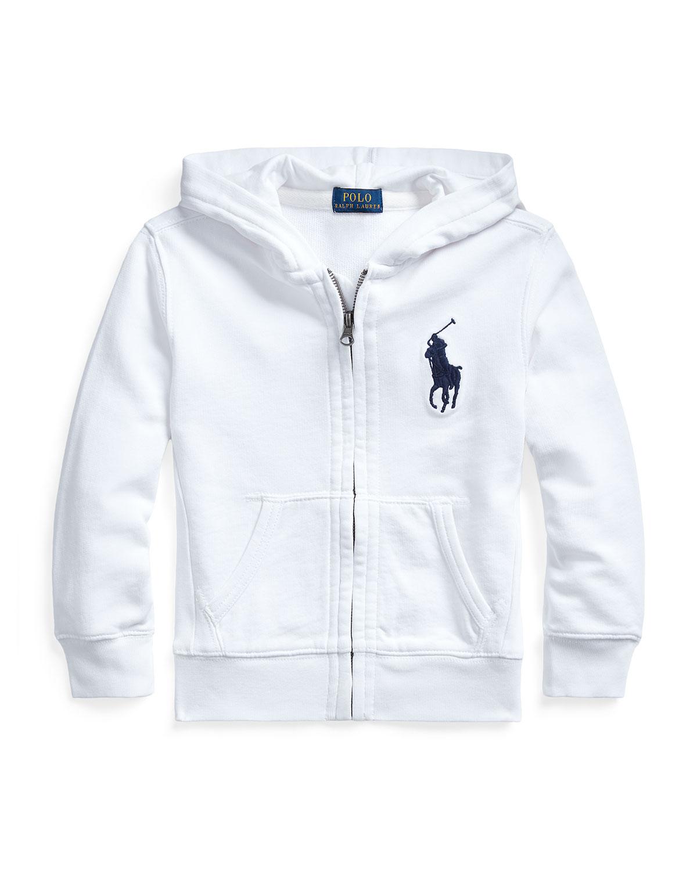 Ralph Lauren Childrenswear Jackets BOY'S FRENCH TERRY LOGO HOODED ZIP-UP JACKET