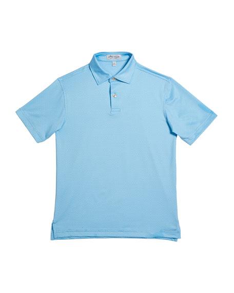 Peter Millar Boy's Kenmore Printed Dragonfly Jersey Polo Shirt, Size XXS-XL