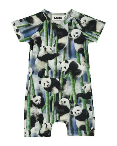 Boy's Felton Panda Print Coverall, Size Newborn-12 Months
