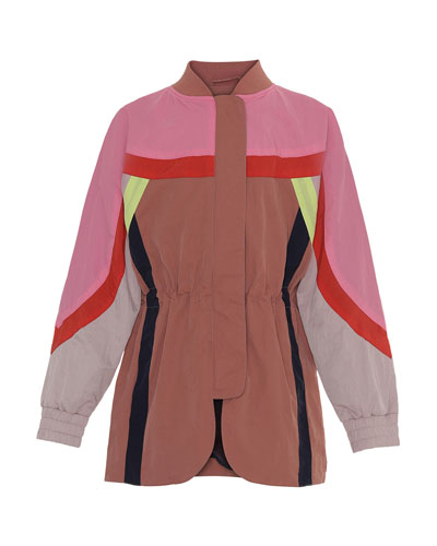 Girl's Heather Colorblocked Jacket, Size 4-16
