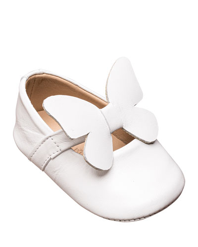 Leather Butterfly Ballet Flat, Baby