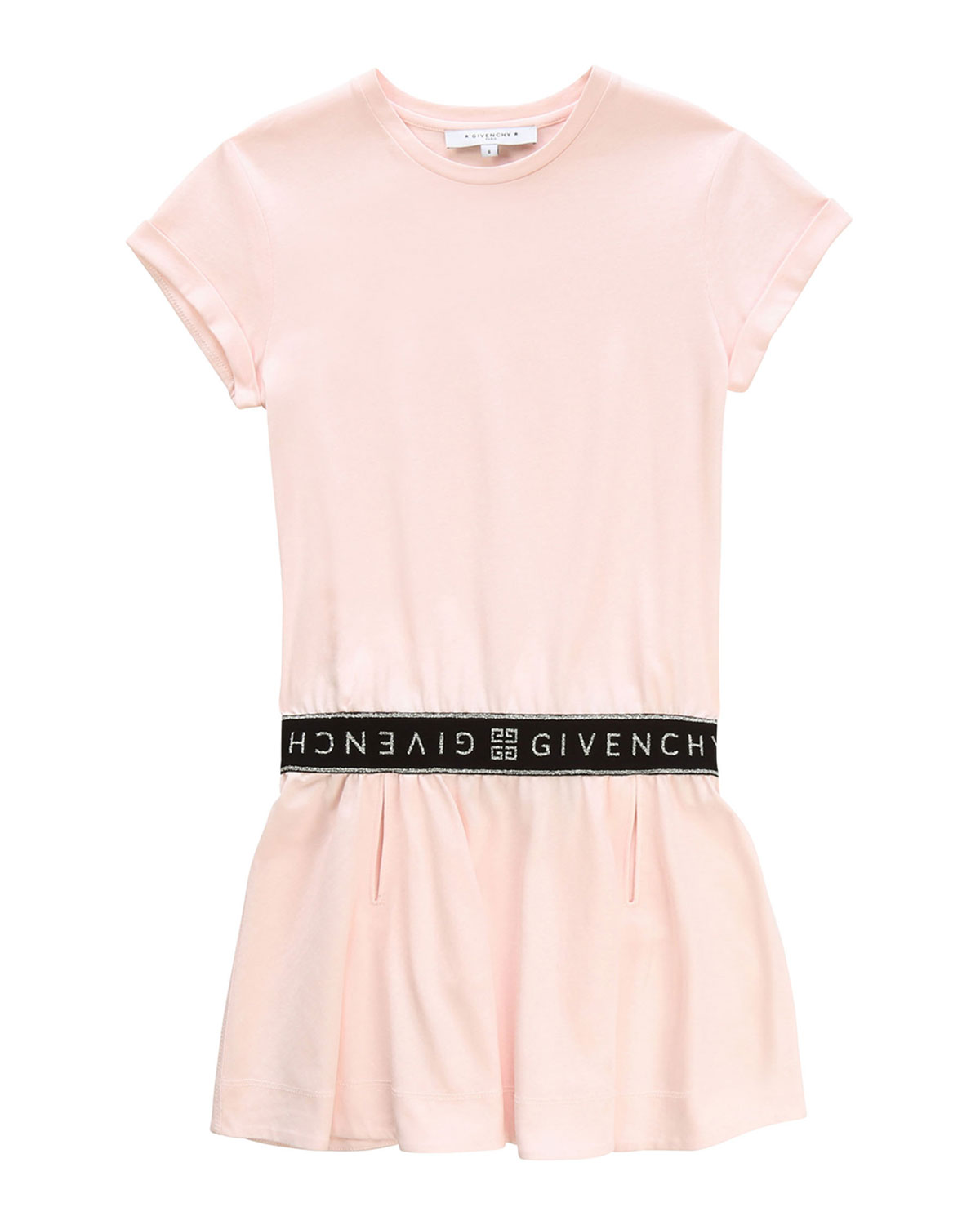 Givenchy SHORT-SLEEVE DRESS WITH LOGO DETAILS