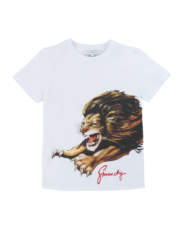 Givenchy Tops BOY'S LION GRAPHIC MINI ME T-SHIRT
