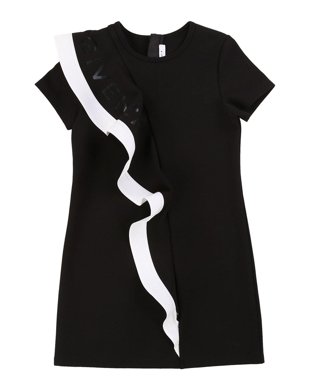 Givenchy MINI ME DRESS WITH FLOUNCE DETAIL & LOGO