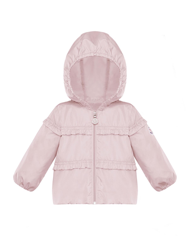 Moncler Girls' Hiti Hooded Ruffle Windbreaker - Baby, Little Kid In Light Pink