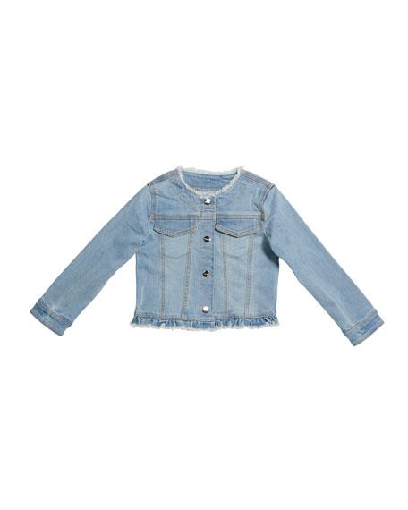 Mayoral Girl's Denim Jacket with Studs, Size 4-7