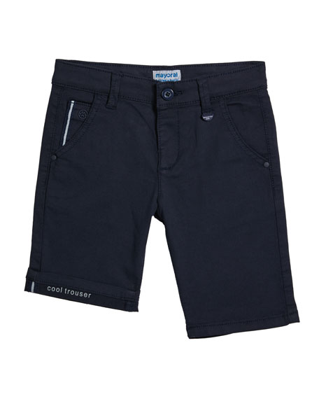 Mayoral Boy's Structured Canvas Shorts, Size 4-7