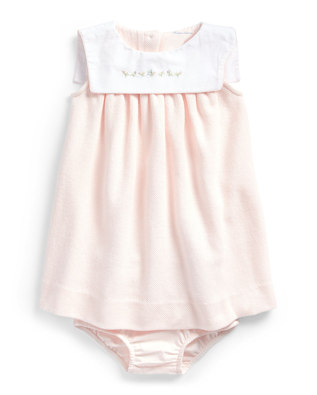 Ralph Lauren Childrenswear Dresses TEXTURED KNIT PIQUE DRESS W/ BLOOMERS