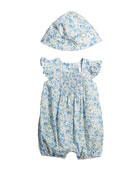 Ralph Lauren Childrenswear Girl's Floral Poplin Bubble Romper