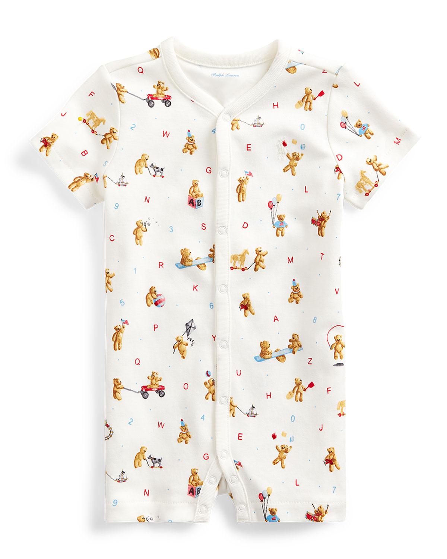 Ralph Lauren Childrenswear Shorts BOY'S BEAR PRINT INTERLOCK SHORTALL
