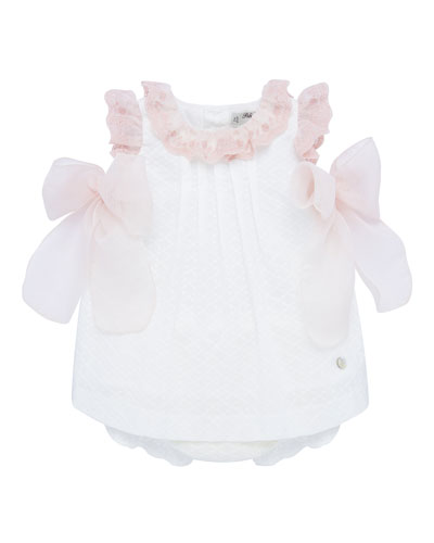Authentic RALPH LAUREN Baby Girl White Lace Detailed Dress 12m 1year rrp £49
